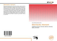 Bookcover of West Burke, Vermont