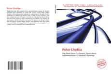 Обложка Peter Lhotka
