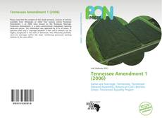 Capa do livro de Tennessee Amendment 1 (2006)