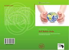 Arif Babür Ordu kitap kapağı