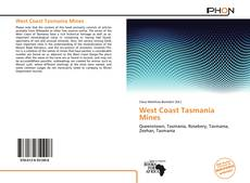 Bookcover of West Coast Tasmania Mines