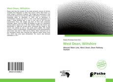 Capa do livro de West Dean, Wiltshire