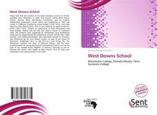 West Downs School kitap kapağı