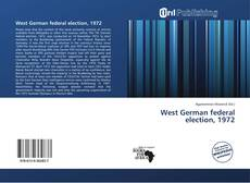 Bookcover of West German federal election, 1972