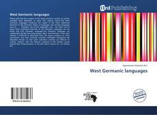 Bookcover of West Germanic languages