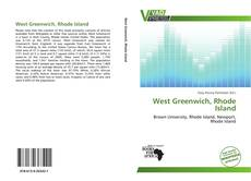 Bookcover of West Greenwich, Rhode Island