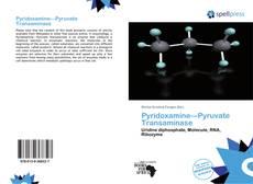 Bookcover of Pyridoxamine—Pyruvate Transaminase