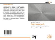 Couverture de West Hudson A.A.