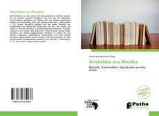 Capa do livro de Aristokles aus Rhodos