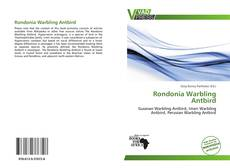 Bookcover of Rondonia Warbling Antbird