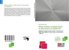 Bookcover of West Indian cricket team in Australia in 2000–01