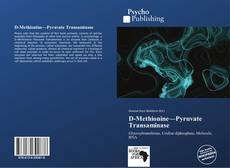 Buchcover von D-Methionine—Pyruvate Transaminase