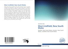 Bookcover of West Lindfield, New South Wales