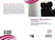 Clemons v. Department of Commerce kitap kapağı