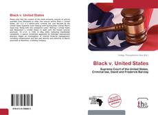 Bookcover of Black v. United States