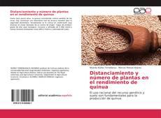 Portada del libro de Distanciamiento y número de plantas en el rendimiento de quinua