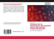 Portada del libro de Historia de la enseñanza del español fuera del mundo hispanohablante