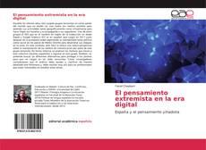Bookcover of El pensamiento extremista en la era digital