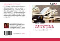 Portada del libro de La investigación de análisis de contexto