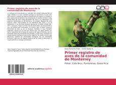 Bookcover of Primer registro de aves de la comunidad de Monterrey