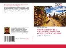 Buchcover von Automatización de la Gestión Documental en el Dpto Cultural - ULEAM