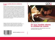 Capa do livro de En que medida afecta la calidad de sueño