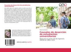 Couverture de Causales de deserción de estudiantes universitarios