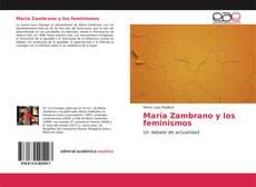 Portada del libro de María Zambrano y los feminismos