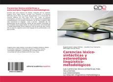 Обложка Carencias léxico-sintácticas y estereotipos lingüístico-metodológicos