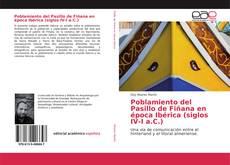 Bookcover of Poblamiento del Pasillo de Fiñana en época Ibérica (siglos IV-I a.C.)