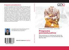 Bookcover of Programa psicoeducativo