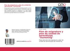"""Buchcover von Plan de asignatura y plan de unidad de aprendizaje """"marketing"""""""