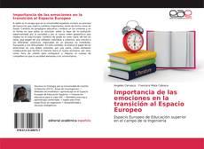 Portada del libro de Importancia de las emociones en la transición al Espacio Europeo