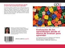 Copertina di Evaluación de los aprendizajes desde el marco de evaluar para aprender