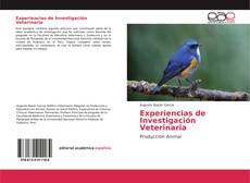 Portada del libro de Experiencias de Investigación Veterinaria