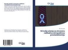 Обложка Krivulja učenja za otvorenu radikalnu retropubicnu prostatektomiju