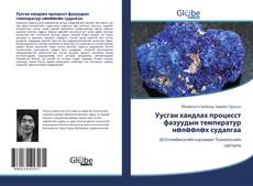Bookcover of Уусган хандлах процесст фазуудын температур нөлөөлөх судалгаа