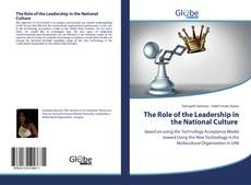 Copertina di The Role of the Leadership in the National Culture