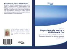 Buchcover von Biogeochemische analyse o Middellandse Zee