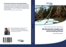 Buchcover von De kinetische studie van ammoniaksynthese