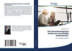 Buchcover von Een fenomenologische studie van vrouwelijke ondernemers