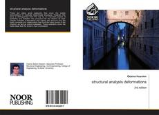 Capa do livro de structural analysis deformations