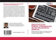 Capa do livro de Administración Pública y Designación de los funcionarios públicos