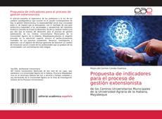Portada del libro de Propuesta de indicadores para el proceso de gestión extensionista