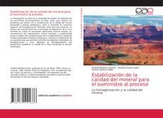 Portada del libro de Estabilización de la calidad del mineral para el suministro al proceso