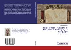 Bookcover of Humboldtian Traditions in the German Philosophy of Language