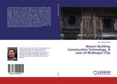 Bookcover of Newari Building Construction Technology, A case of Bhaktapur City