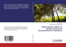 Bookcover of UVB radiation effect on primary process of photosynthesis in Spirulina