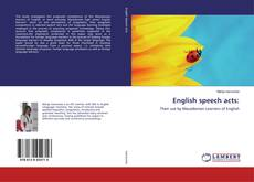 Bookcover of English speech acts: