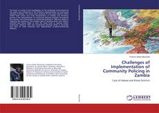 Bookcover of Challenges of Implementation of Community Policing in Zambia